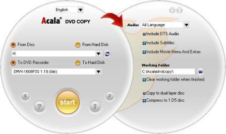 Screenshot af Acala DVD Copy