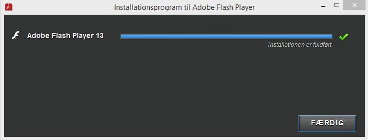 Screenshot af Flash Player