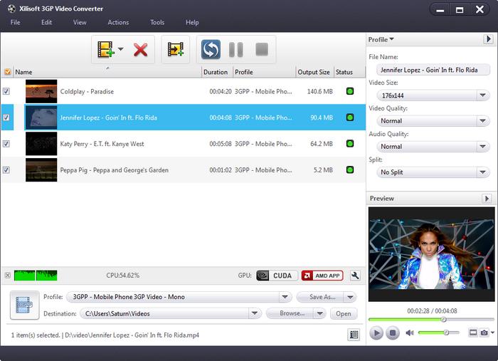 Screenshot af Xilisoft 3GP Video Converter