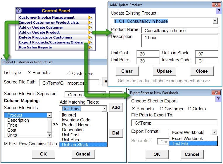 Screenshot af Customer Invoicing - Excel Invoice Template