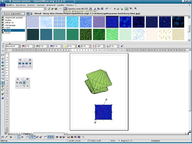 Screenshot af OpenOffice Draw