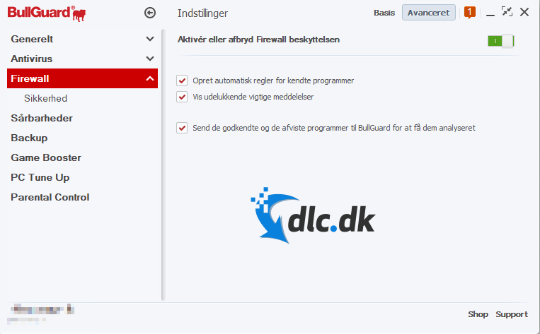 Screenshot af Bullguard Internet Security