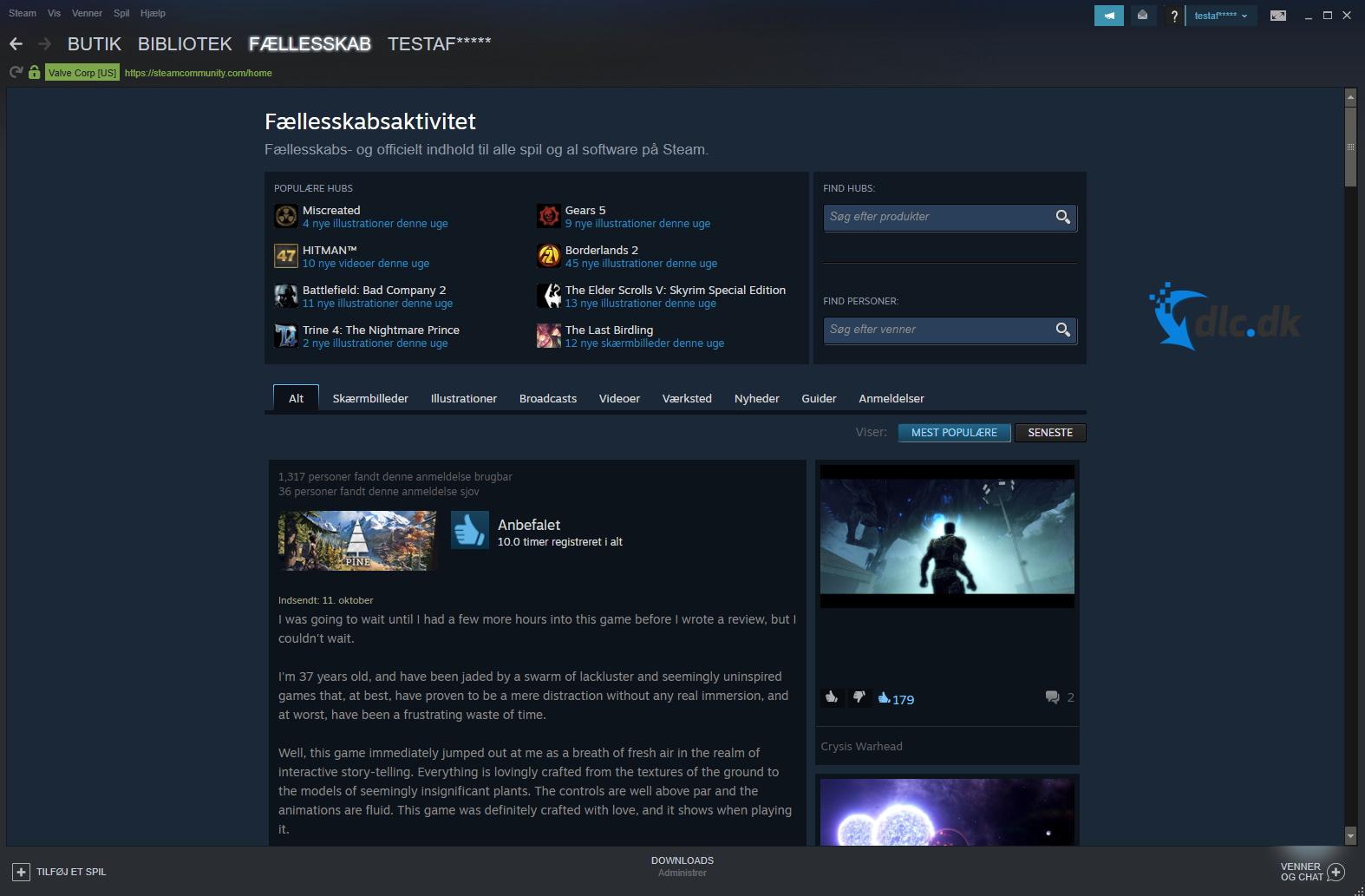 Screenshot af Steam Client