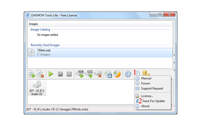 Screenshot von DAEMON Tools Lite