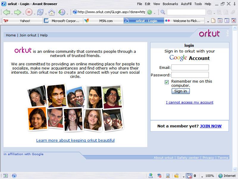 Screenshot von Avant Browser