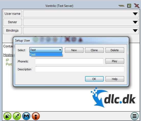 Screenshot af Ventrilo