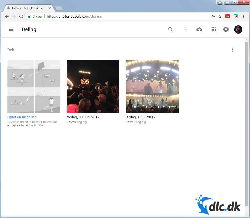 Screenshot af Picasa (Deutsch)