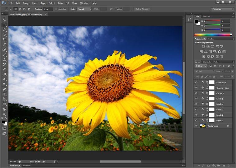 Screenshot von Adobe Photoshop