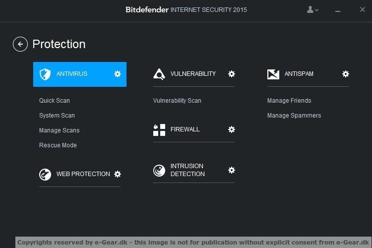Screenshot af BitDefender Internet Security