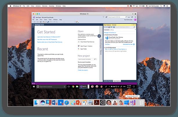 Screenshot af Parallels Desktop for Mac