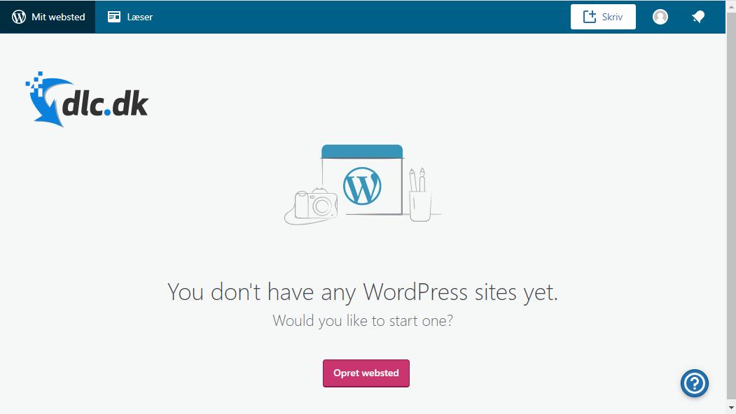 Screenshot af Wordpress