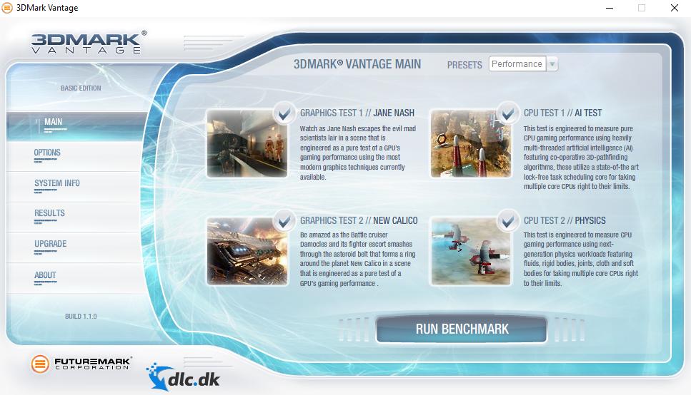 Screenshot af 3DMark Vantage
