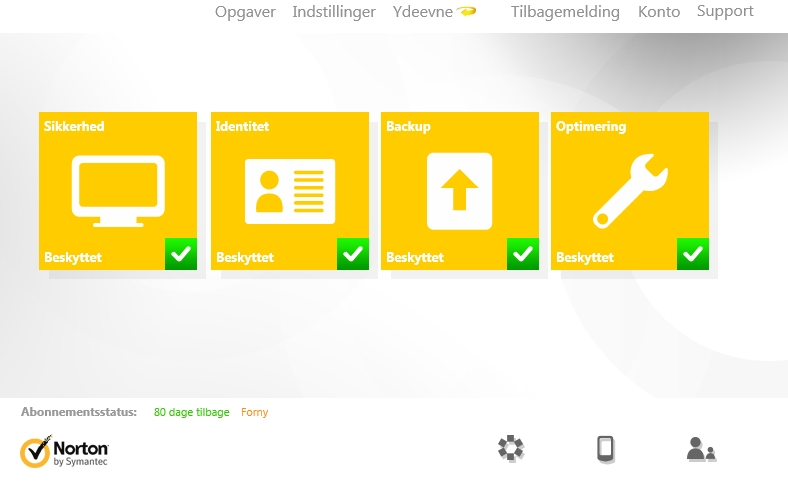 Screenshot von Norton AntiVirus