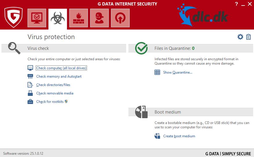 Screenshot af G DATA Internet Security
