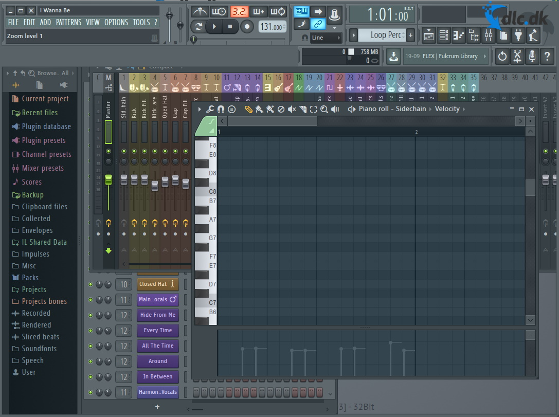 Screenshot af FL Studio