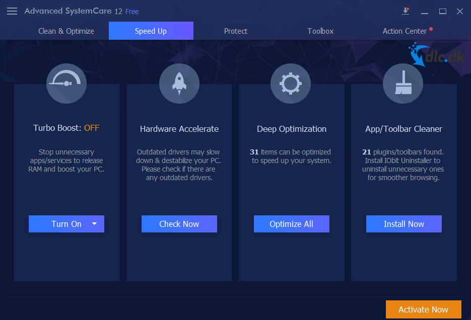 Screenshot af Advanced SystemCare Free