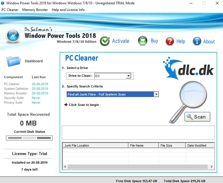 Screenshot af Dr. Salman's Window Power Tools