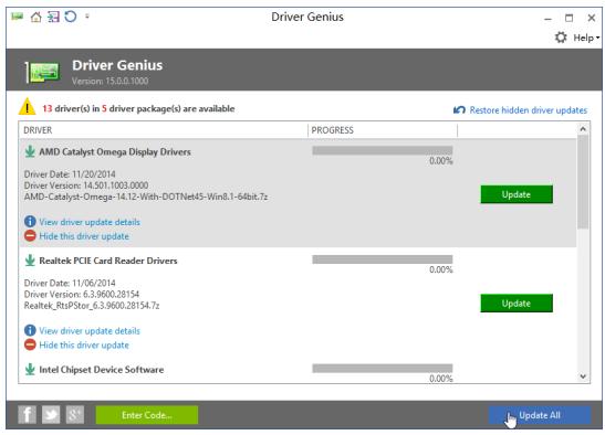 Screenshot af Driver Genius Professional
