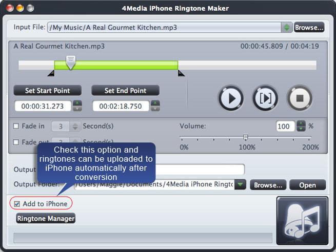Screenshot af 4Media iPhone Ringtone Maker