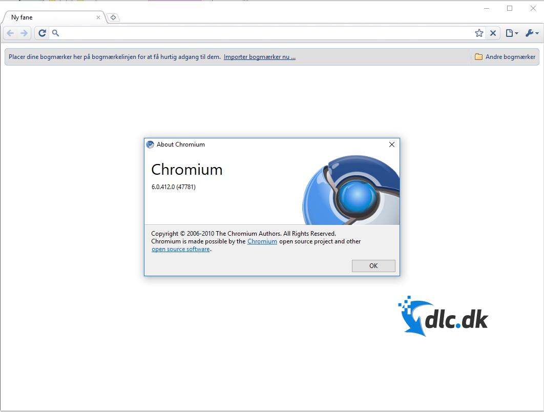 Screenshot af Chromium Browser