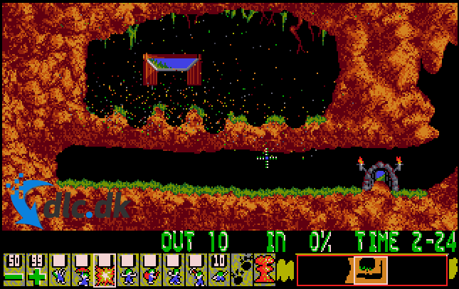 Screenshot af Lemmings