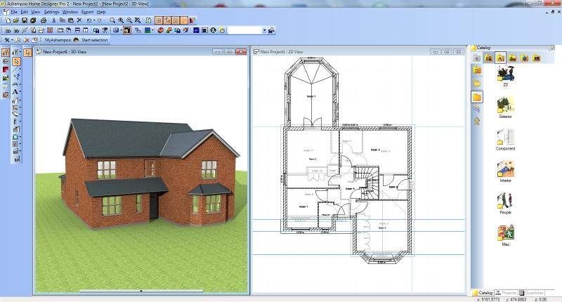 Screenshot af Ashampoo Home Designer