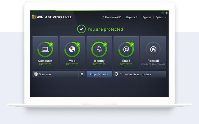 Screenshot von AVG Anti-Virus Free