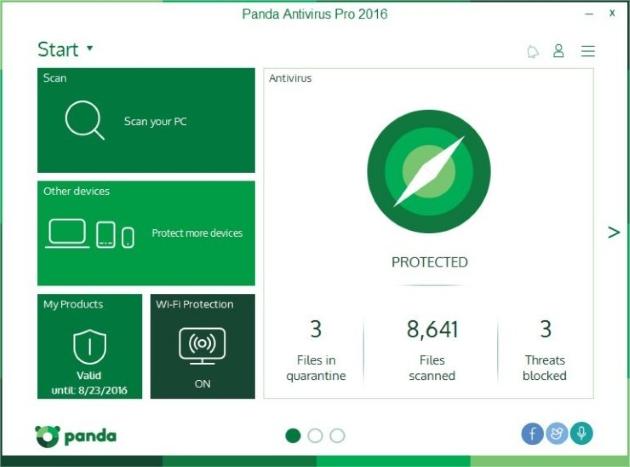 Screenshot von Panda Antivirus Pro
