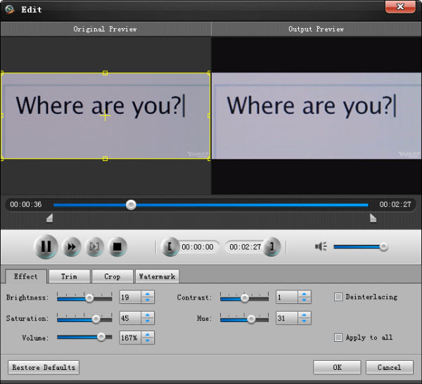 Screenshot af 4Media AVCHD Converter