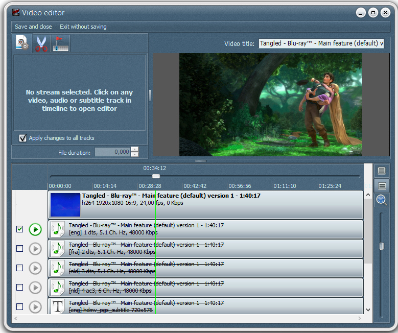 Screenshot af Blu-ray To DVD