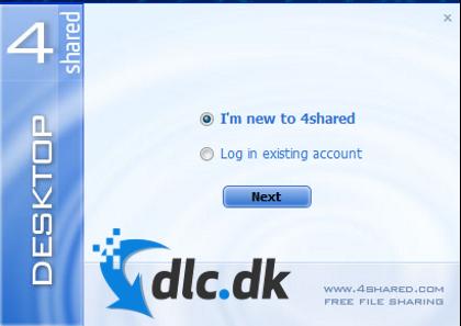 Screenshot af 4shared Desktop