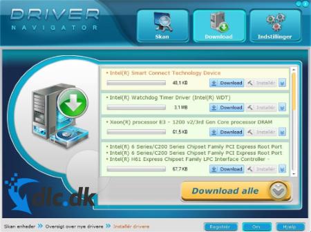 Screenshot af Driver Navigator
