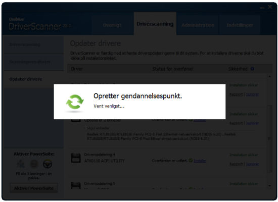 Screenshot af DriverScanner (deutsch)
