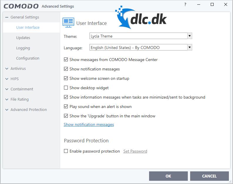 Screenshot af Comodo Antivirus