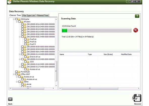 Screenshot af Stellar Phoenix Windows Data Recovery
