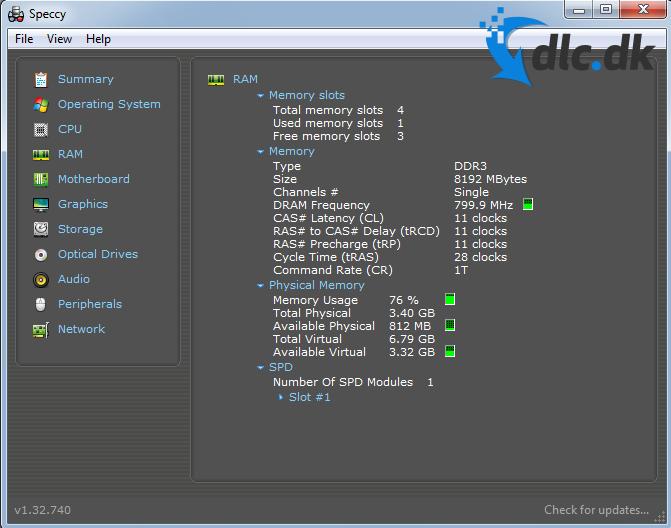 Screenshot af Speccy