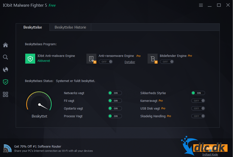 Screenshot af IObit Malware Fighter Free 2