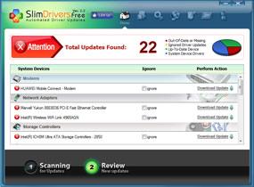 Screenshot von SlimDrivers Free