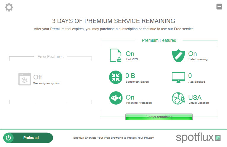 Screenshot af Spotflux