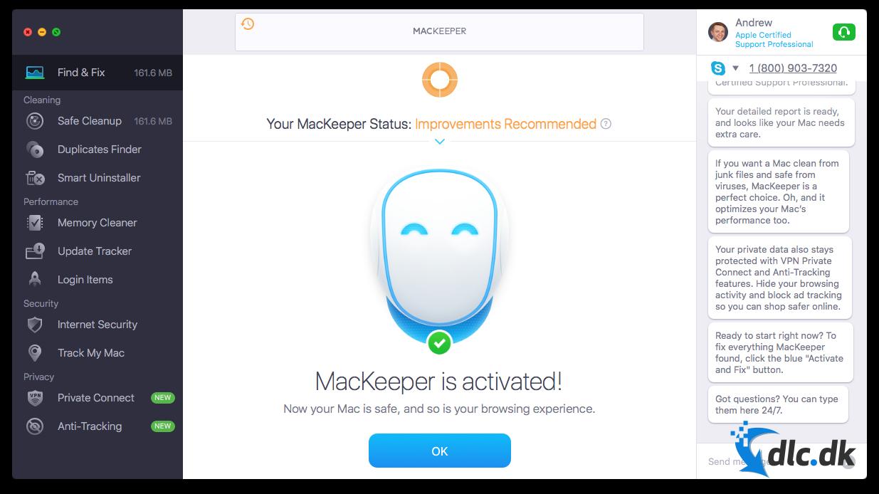 Screenshot af MacKeeper (deutsch)