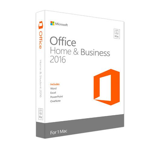 Microsoft Office 2016 til Mac på dansk - Boxshot