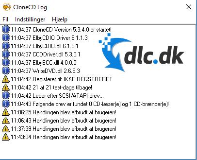 Screenshot af CloneCD