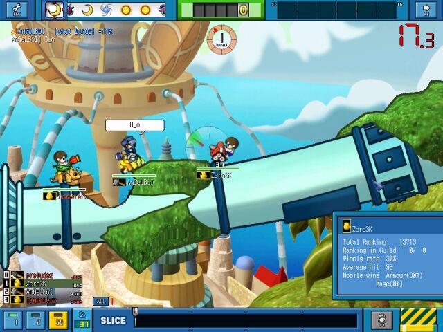 Screenshot af Gunbound