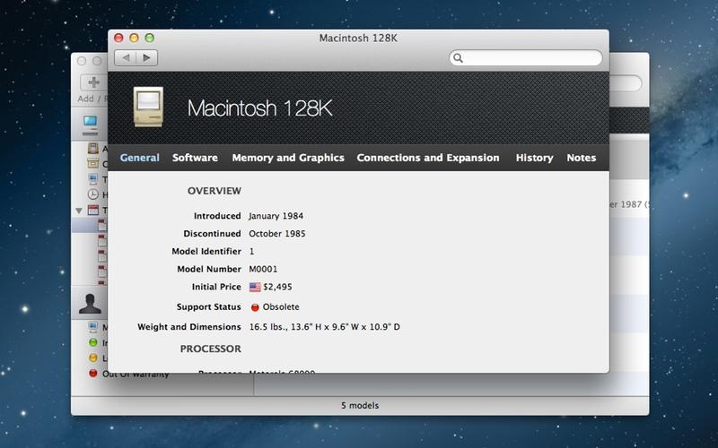 Screenshot af Mactracker