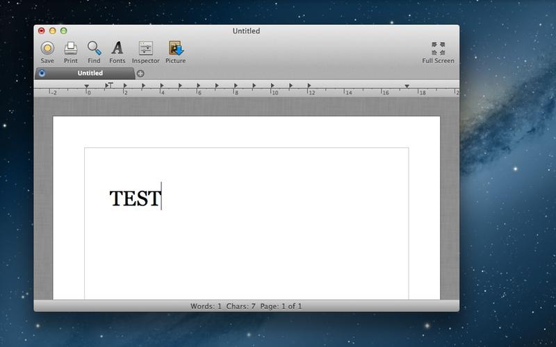 Screenshot af Bean til Mac