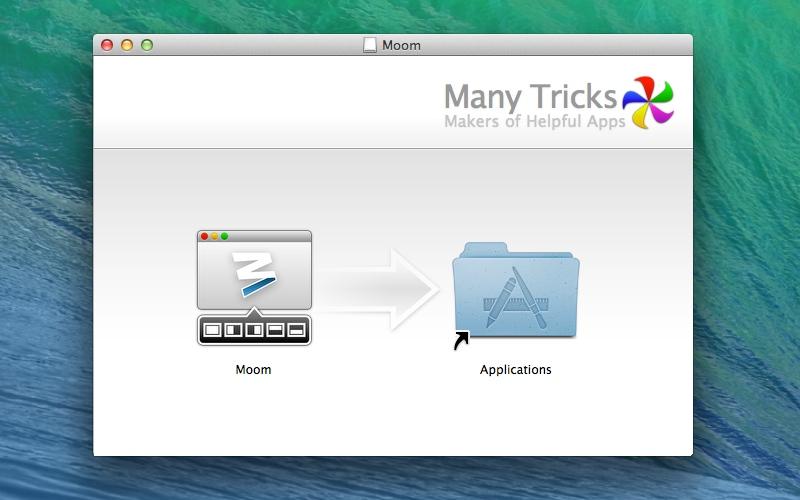 Screenshot af Moom til Mac