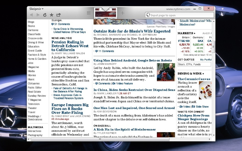 Screenshot af Sleipnir für Mac