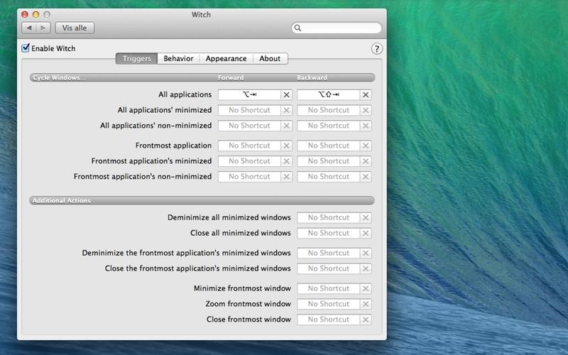 Screenshot af Witch til Mac