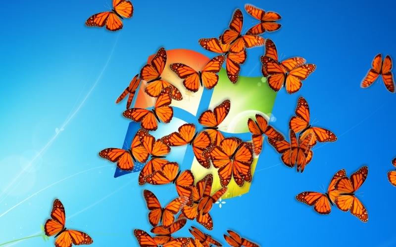 Screenshot af Butterfly On Desktop