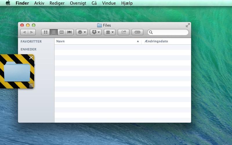 Screenshot af Dropshelf til Mac